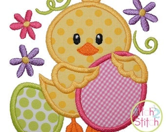 Easter Chick Eggs Applique Design For Machine Embroidery, INSTANT DOWNLOAD now available