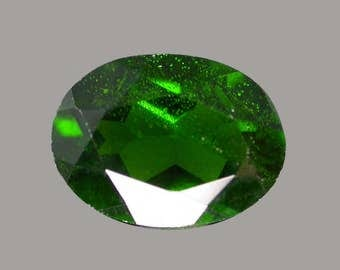 CHROME DIOPSIDE (33511) * * * * 8 x 6mm Medium Deep Green Russian Diopside - Faceted