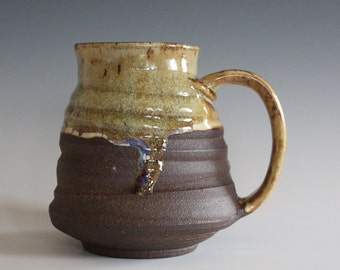 unique coffee mug, 19 oz, handmade ceramic cup, handthrown mug, ceramic stoneware, pottery mug, unique coffee mug, ceramics and pottery