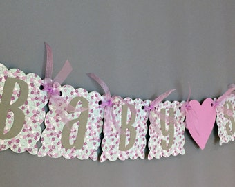 Baby Shower Purple Lavendar Shabby Chic Flowers - Baby Girl - Baby Shower It's a Girl