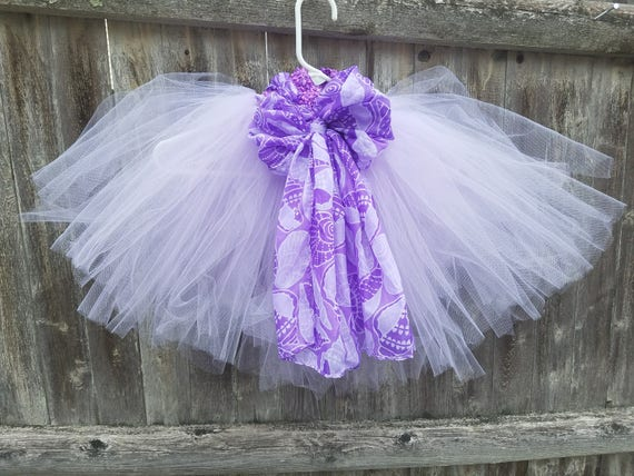 Lavender and Purple puffy tutu with seashell motif.  Beach getaway?  Beach photo shoots?  Up to you!