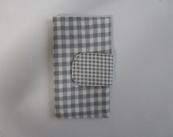Wallet with Gingham Style Print