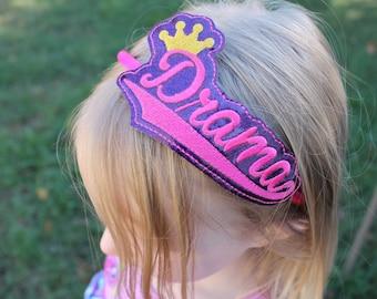 Drama Queen Headband, Girls Headband, Girls Drama Queen Headband, Drama Queen, Toddler Headband
