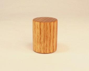 "Oak Finial Wood Lamp Finial Drum Pattern 7, 1.5"" tall x 1.25"" dia"