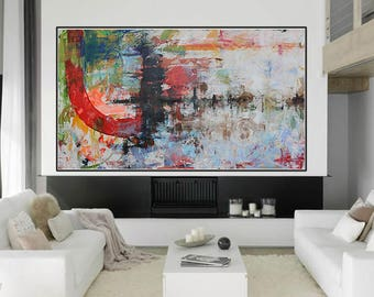 xlarge painitng,ORIGINAL abstract painting,modern,art ,abstract art,painting on canvas,red abstract,