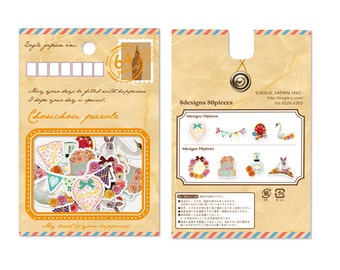 Gold Foil Envelope Stickers -Pretty Sticker Set - Deco Translucent Sticker Set