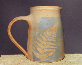 Arty Mug, 26 oz. Extra Large Coffee Tea  Beer Stein Handmade  Stoneware, Microwavable Home and Living Drink and Barware Kitchen and Dining