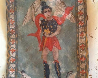 Guardian Angel Retablo Original Art Painting