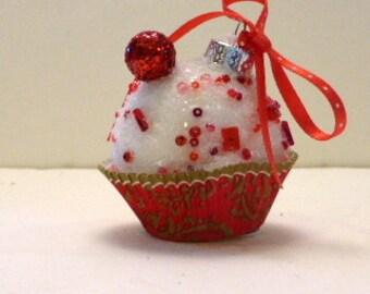 Miniature Cupcake Ornament