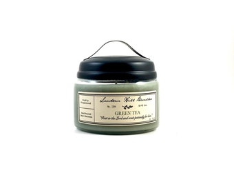 Green Tea Candle -  Hand Poured Candle - Small