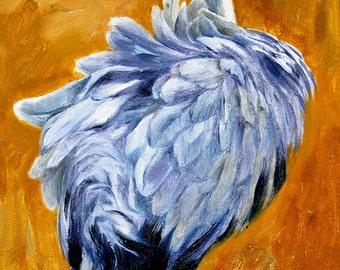 Common Crane-Holiday gift / Wedding gift / Birthday gift, Favorite animal, Original oil painting