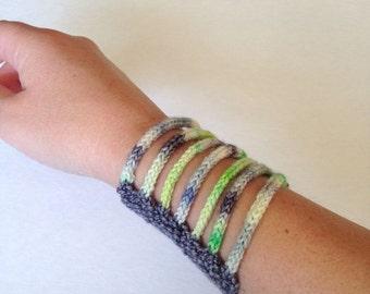 Cuff: Hand Knit Cuff Bracelet
