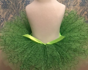 Green Swirl Tutu - St. Patrick's Day Tutu - Party Tutu - Green Glitter Tutu
