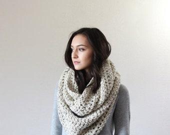 End of season SALE Super Chunky Infinity Scarf, loop scarf, circle scarf, cowl, snood // The Strasbourg - OATMEAL