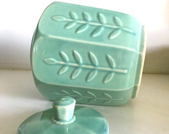USA Modernist Leaf Design Cookie Jar