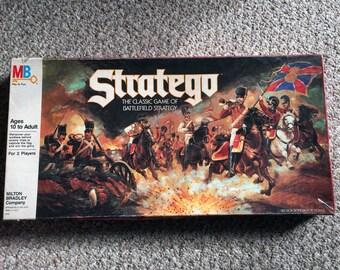 Vintage Stratego Board Game by Milton Bradley 100% Complete
