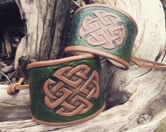 Couples Celtic Cuff Bracelets