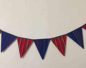 Large Mexican Theme Fabric Banner Bunting Garland