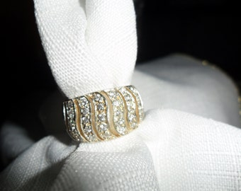 Vintage CZ Sterling Silver Ring Size 7