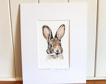 Print - Little Leveret - Baby Hare Drawing