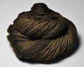 Dried brown algae- Merino/Manx Fingering Yarn