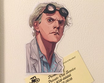 DOC Brown BACK to the FUTURE Fridge Magnet