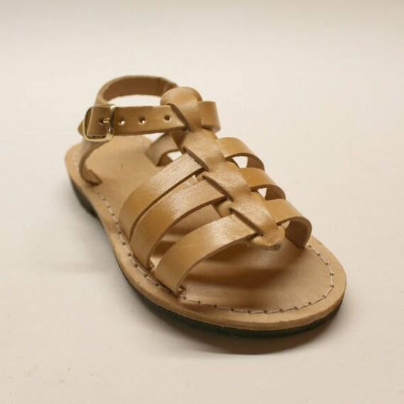 Boys leather sandals. gladiator-Sandales multi-brides en cuir enfant-bebe-kids sandals
