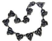 PDF beading tutorial pattern - Iona necklace celtic knot design