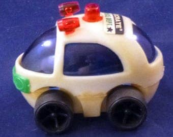 Vintage Eggcrate Police Dept. Toy Vehicle, 1970s
