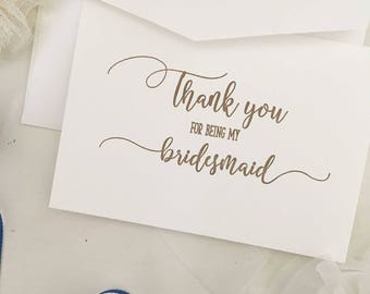 Bridesmaid Thank You Gift - Boxes For Bridesmaid - Thank You Card - Bridesmaid Card - Bridesmaid Gift Ideas -Bridesmaid Gift -For Bridesmaid