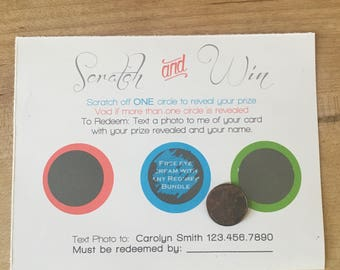 Scratch and Win Cards for Rodan + Fields--set of 20 cards