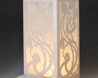 Rosebud Laser cut Luminary Table Lamp Centerpiece - #82