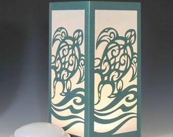 Sea Turtle Laser cut Luminary Table Lamp Centerpiece - #76