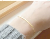 Gold Tube Bracelet, Curved Tube Bracelet, Everyday Dainty Bracelet, Best Friend Sister Gift bracelet, GOLD Bar Bracelet, Minimalist Jewelry