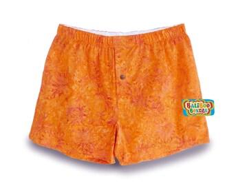 Pajama Short Orange, Pink Floral Pajamas, Women Boxers, Floral Boxers, Modest Swimwear Swim Short