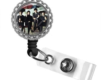 The Beatles..Rainy Day..Retractable ID Badge Reel.. ID Holder, Bottle Cap ID Badge.. Great Gift
