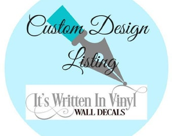 Custom listing for Mary Jackson-  wall decal  sticker home hallway Vinyl Lettering wall decals words graphics Home decor itswritteninvinyl