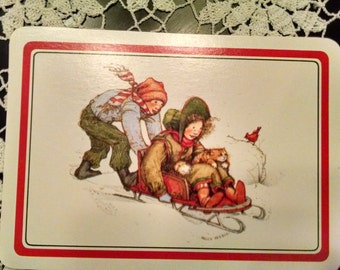 vintage Holly Hobbie Christmas postcard set of 3 1983