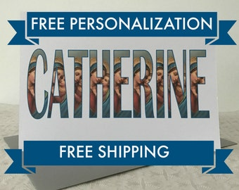 Confirmation Card, Catholic Greetings Card, SHIPS FAST and FREE, Free Personalization