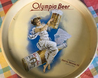 Vintage Olympia Beer Tray