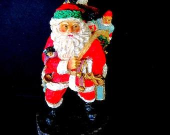 Vintage Santa Statue, Santa Figurine, Vintage Santa Decor, Santa Claus Figurine, Vintage Santa Claus, Christmas Decor, Vintage Saint Nick