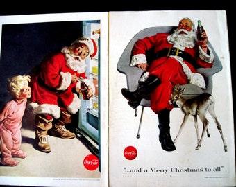 Santa Claus Cover, National Geographic, Santa Coke Cover, 1950 Santa Cover, Cola Santa Photo, Coke Santa Ad, Coca Cola Santa, Santa Ad, Red