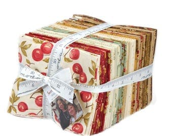 Moda Fabrics Sweet Cherry Wine Fat Quarter Bundle Complete Collection of 38 Fat Quarters  by Blackbird Designs
