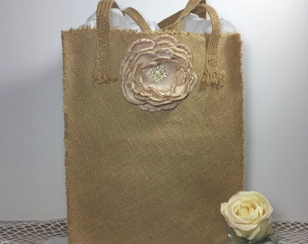 Wedding Money Bag, Wedding Dance Bag, Dollar Dance Bag, Wedding Accessories, Burlap Wedding, Flower Girl, Wedding Decor, Rustic Wedding