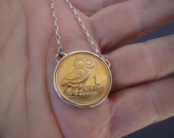 Greek Coin Pendant, Collector Coin Pendant