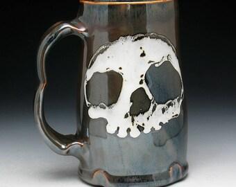 Ghost Skull Beer Mug in Metallic Bronze