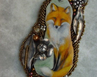 Silver and the Fox Necklace