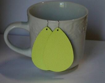 Light Flash Yellow Teardrop Drop Earrings