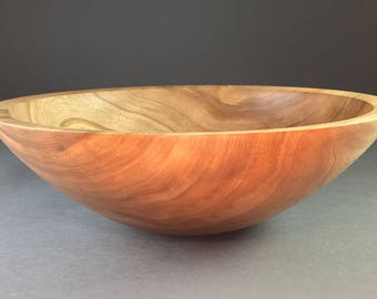"""12"""" Handcrafted Elm Wood Salad Bowl  #1476"""