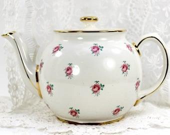 Sadler Tea Pot, Chintz Teapot, Vintage Porcelain, Antique Tea Pot, English Tea, James Sadler Pots